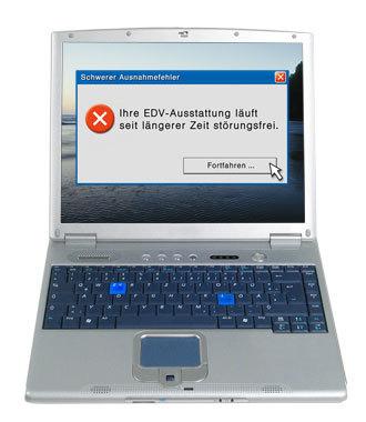 Schwerer Ausnahmefehler: Ihre Computer laufen seit längerer Zeit störungsfrei.